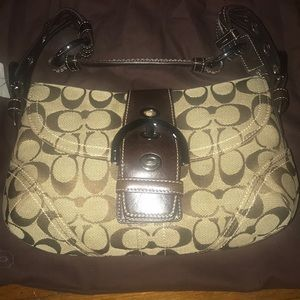 Women Coach Shoulder Flip Bag